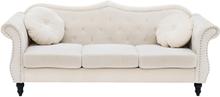 3-istuttava sohva samettinen beige SKIEN
