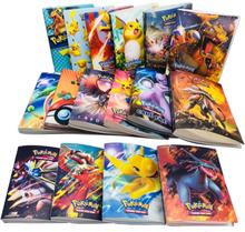 Takara Tomy Cartoon Anime Pocket Monster Pikachu Holder Album Toys Collection Pokemon cards Album Book Top for kids gift