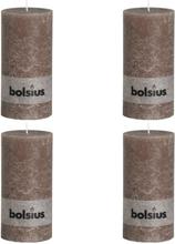 Bolsius Blockljus 4-pack 200x100 mm taupe