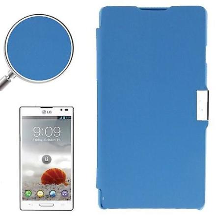 Mobiltelefon täcker fallet för LG Optimus L9 / P760 blå borstad