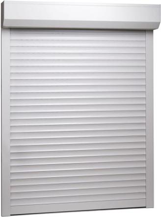 vidaXL Rulljalusi aluminium 110x130 cm vit