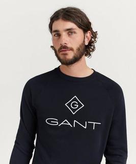 Gant Sweatshirt D1 Gant Lock-Up C-neck Sweat Blå