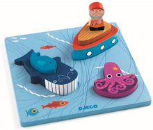 Djeco - Relief Puzzle - 1 - 2 - 3 Moby