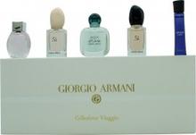Giorgio Armani Miniature Presentset for Her 3ml Code Femme EDP + 5ml Emporio Diamonds Rose EDP + 5ml Acqua di Gioia EDP + 7ml Armani Si EDP + 7ml Armani Si EDT