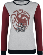 Game Of Thrones - House Targaryen - Fire And Blood -Collegegenser - grå, rød