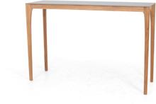 Lux barbord Teak/grå keramik 160x50 cm