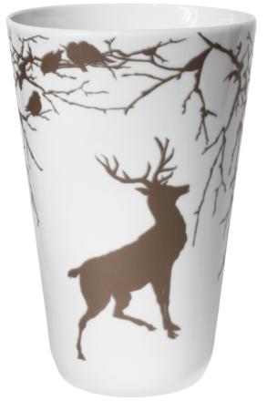Wik & Walsøe Alveskog brun stor vase 26cm