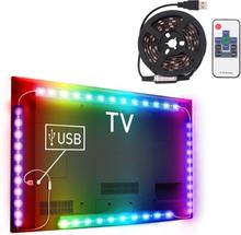 Tv-taustavalaistus Usb kaukosäätimellä - 12W 60 LED SMD 5050 RGB 1x1m