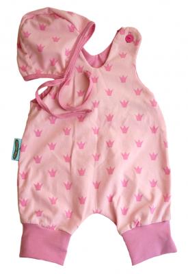 Babyset 0-3 mån rosa kronor