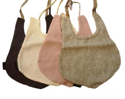 Haklapp i linne/creppad bomull (Färg: Grå)