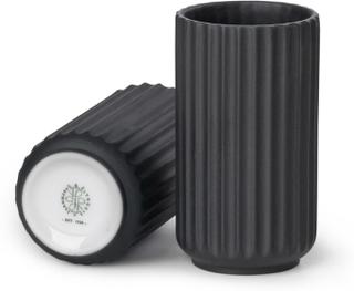 Lyngby Vase 12 cm sort -Tilbud