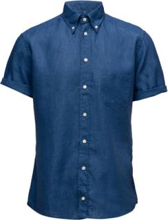 Hoxton-Green-Slim Fit Kortärmad Skjorta Blå ETON