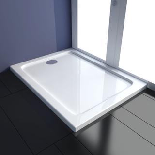 vidaXL ABS-dusjbunn rektangulær 80 x 100 cm