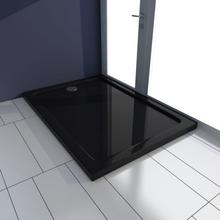 vidaXL Rektangulær ABS brusebads bakke, sort, 70 x 100 cm