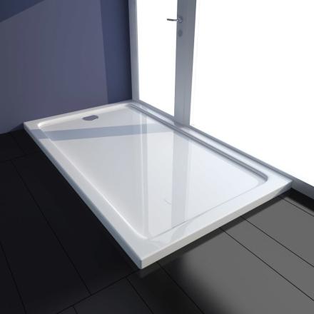 vidaXL Rektangulær ABS Dusjplate/bunn hvit 70 x 120 cm