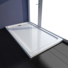 vidaXL Rektangulärt ABS duschkar vit 70 x 120 cm