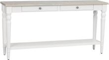 Lorient avlastningsbord gråpigmenterad furu/vitmålad 150 x 37 cm