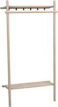 Milford klädställning vitpigmenterad ek/svart metall 180 x 90 cm