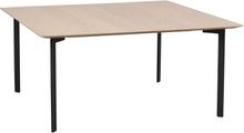 Spencer soffbord vitpigmenterad ek/svart metall 95 x 95 cm