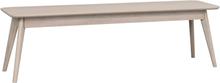 Yumi sittbänk lackad vitpigmenterad fanérad ek 155 x 40 cm