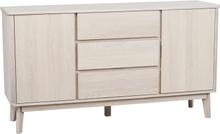 Yumi sideboard lackad vitpigmenterad ek 152 x 42 cm