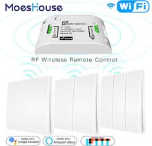 RF433Mhz+Wifi Wireless Remote Control Smart Switch,Wall Panel Transmitter ,Smart Life/Tuya APP ,Works with Alexa Google Home.