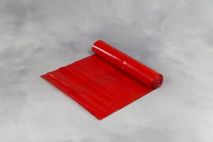 Affaldssække plastik rød 700x1100mm Luksus 10stk/rul