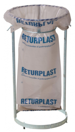 Affaldssække returplast klar 850x1550mm 10stk/rul