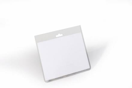 ID-kort-holder u/clip 60x90mm 20stk/pak transparant