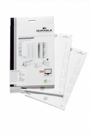 Indstik til kongresmærker på A4-ark hvid 74x34mm 20ark/pak