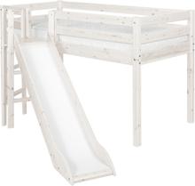 Halvhög loftsäng rutschkana plattform, Flexa CLASSIC