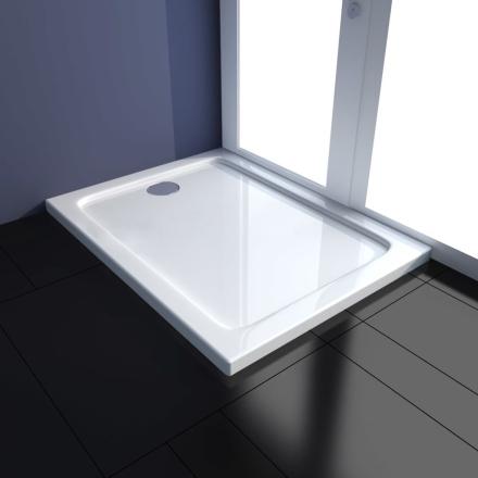 vidaXL ABS-dusjbunn rektangulær 70 x 90 cm