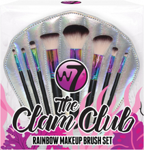 W7 The Clam Club! Makeup Brush Set 9 kpl