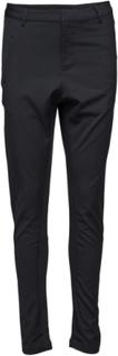Pants With Rib Inserts Bukser Med Rette Ben Svart Saint Tropez