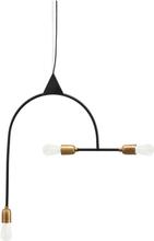 House Doctor Arch lampe i sort og messing - 63x66,3 cm