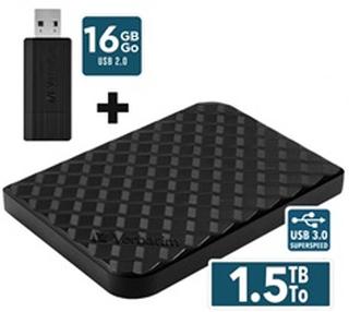 Verbatim StorenGo Combo 1,5TB Harddisk