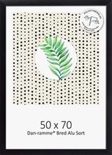 14f20a8893c Dan Frame sort bred børstet alu-ramme - 50x70 cm