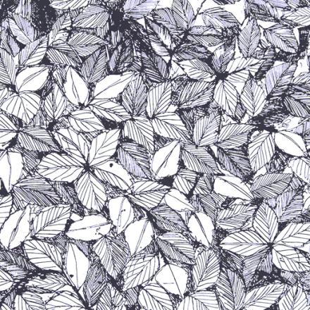 Hassel stoff sort-hvit