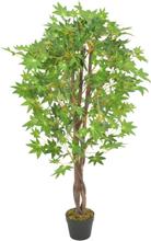 vidaXL Konstväxt Lönnträd med kruka 120 cm grön