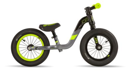 s'cool pedeX 1 Lapset potkupyörä , harmaa/musta 2019 Lasten kulkuneuvot
