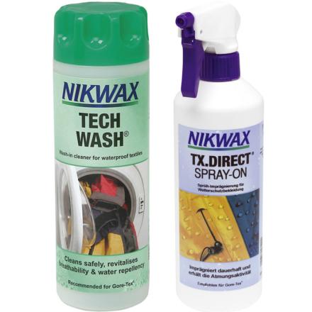Nikwax Tech Wash + TX.Direct Spray-On 2 x 300 ml , monivärinen 2018 Tekstiilien kyllästäminen