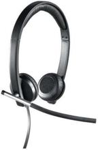 USB Headset Stereo H650e - Svart