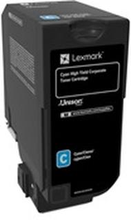 Lexmark - Højtydende - cyan - original - tonerpatron - LCCP, Lexmark Corporate