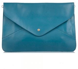 Delfinblå stor kuvertväska