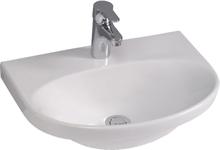 Gustavsberg Nautic 5550 Tvättställ utan bräddavlopp, för bult/konsolmontage