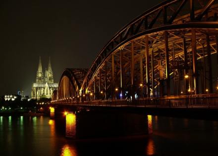 Cologne Cathedral by night. cologne, cologne cathedral, cologne dom, k