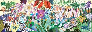 Pussel Gallery - Rainbow Tigers (1000 bitar)