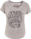 True Religion SCOOP COLLAR Tshirt med tryck dusty