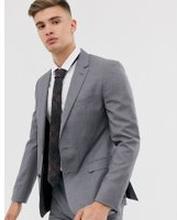 Tommy Hilfiger – Enkel kostymjacka med smal passform-Grå