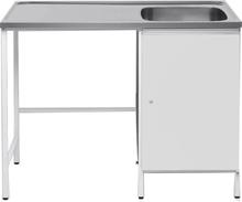 Contura CAB 12 Tvättbänk vit, med plats för tvättmaskin Höger